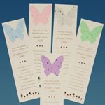 Butterfly memorial bookmarks