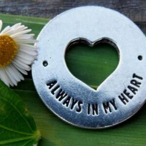 Heart Pocket Funeral Favor Always in my heart
