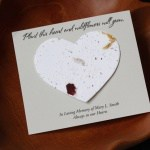 Seed card heart personalized memorial cards