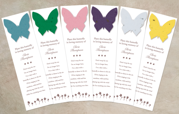 Butterfly Seed Bookmarkers