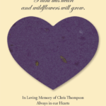 Plantable Wildflower Heart Seed Memorial Cards