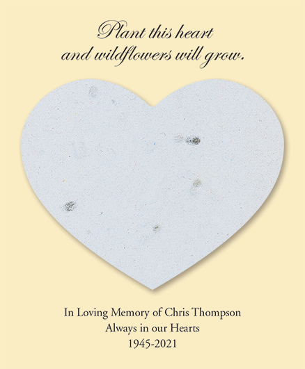 White Seed Cards Heart Shaped