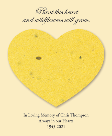 Yellow Seed Cards Heart Shaped