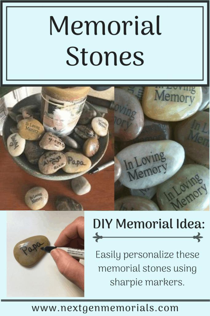 Memorial stones DIY idea