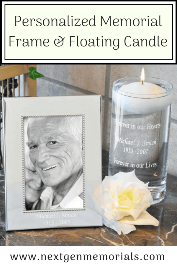 Personalized Memorial Frame and Floating Candle