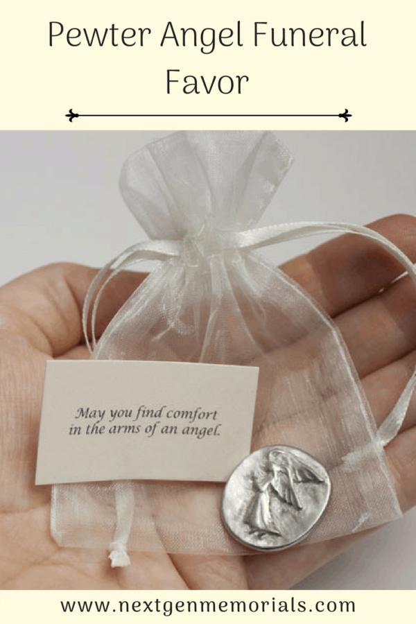 Pewter Angel Funeral Favor
