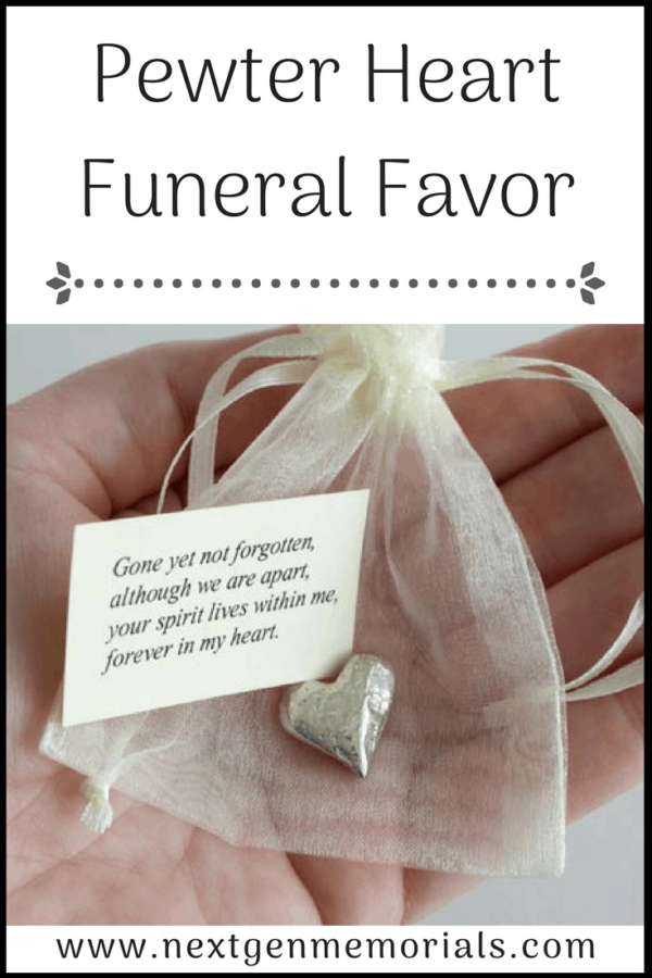Pewter Heart Funeral Favor