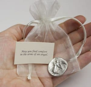 Angel Charm in Organza Pouch