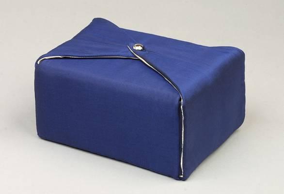 Dark Blue Fabric Urn