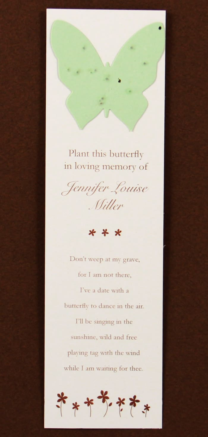 Green Butterfly Bookmark