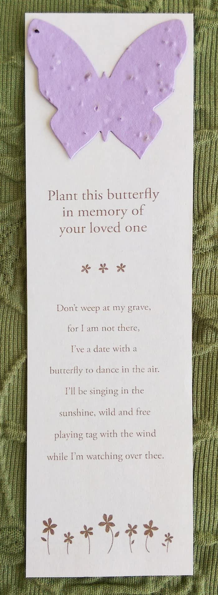 Butterfly Bookmark for Hospice