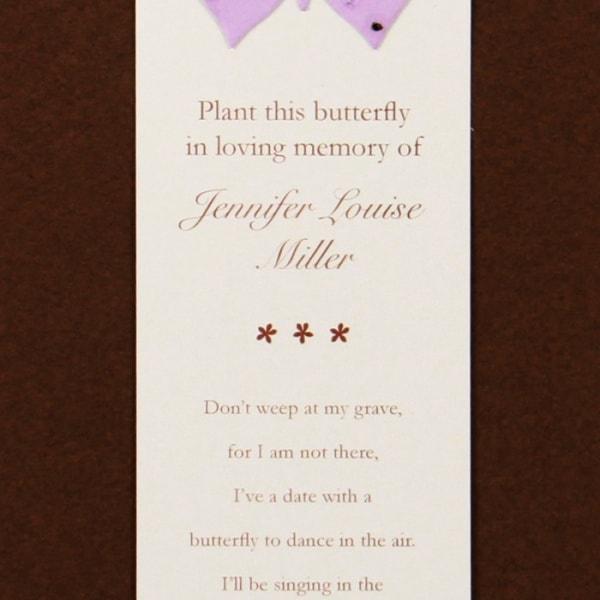 Purple Butterfly Bookmark