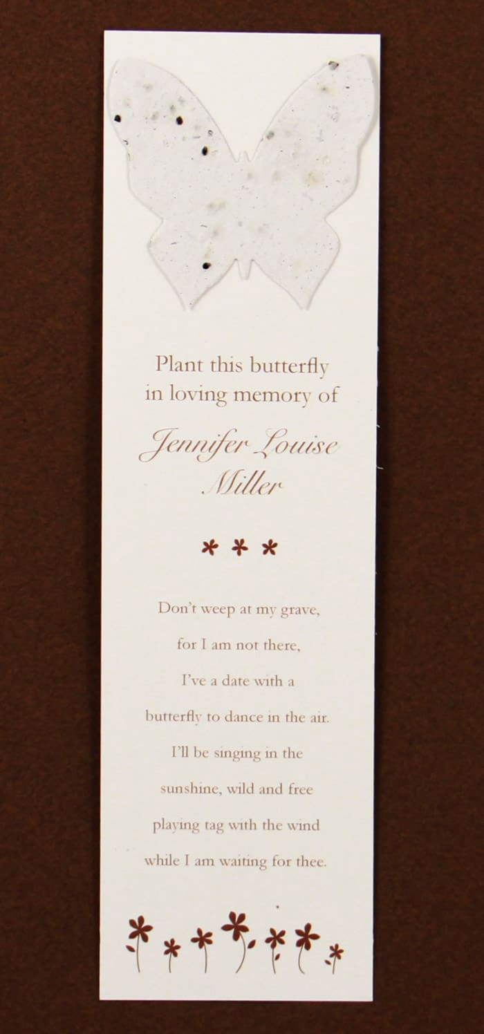 White Butterfly Bookmark