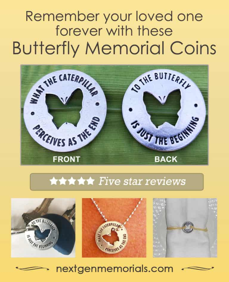 Butterfly memorial coins