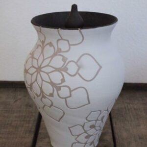 White Blossom Urn