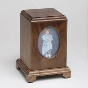 Wooden Child Urn Walnut