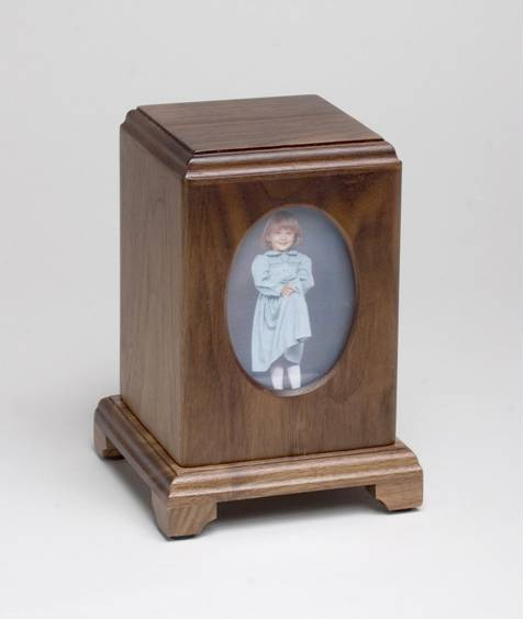 Wooden Child Urn Walnut