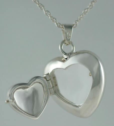Double Heart Locket Open