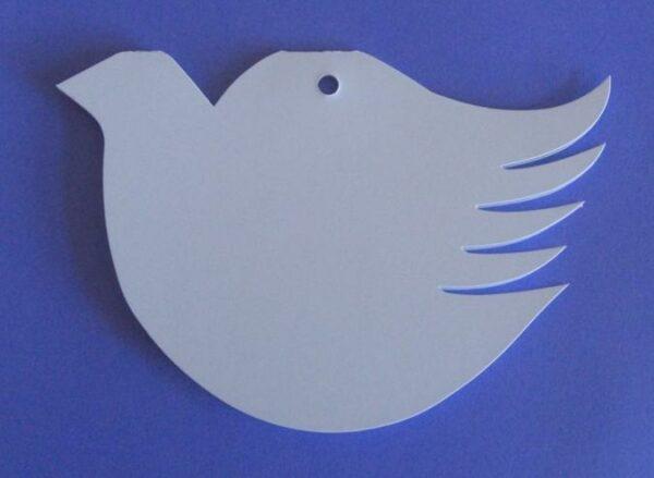 Dove Card With a Hole