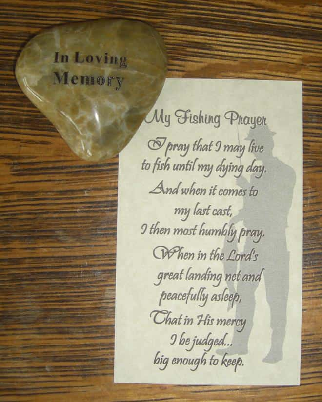 Memory Stones for Funeral with Fishing Prayer