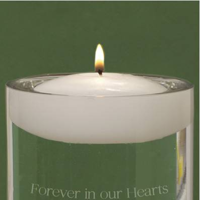 floating memorial personalized candle engraved candle for funeral