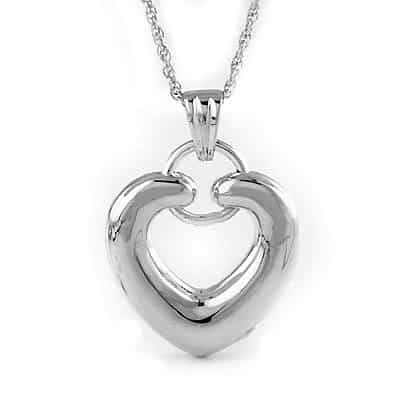 Silver forever heart pendant urn necklace cremation jewelry forever heart pendant urn necklace aloadofball Image collections