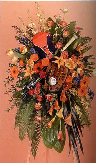 Unique funeral flower arrangements next gen memorials examples of unique funeral flower arrangements baseball photo arrangement solutioingenieria Gallery