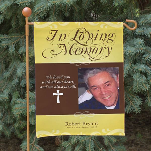 Personalized Memorial Photo Banner for hanging in your garden