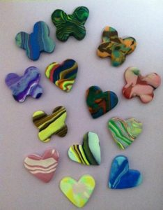 Heart Clay Charms