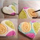 Clay Hearts with spirals