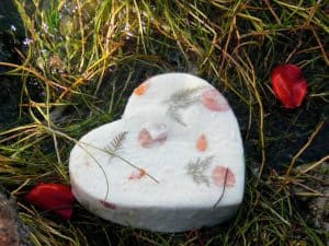 Customer Photo of Heart Biodegradable Urn