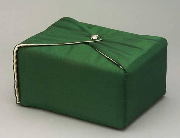Hunter Green Fabric Urn