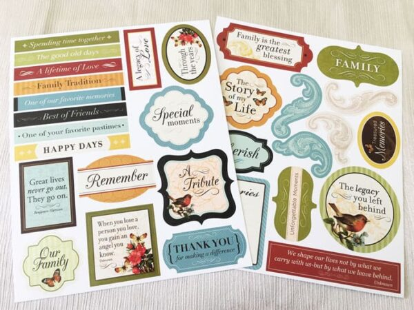 Memorial Board Kit Sticker Pages