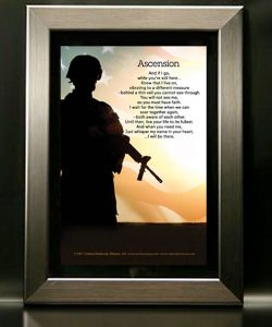 Soldier Military Memorial Framed Poem for Funeral