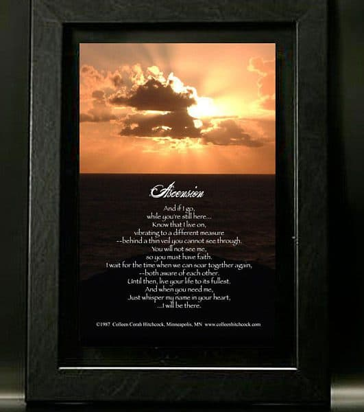 Sunset with Black Frame