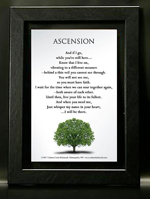 Framed Memorial Print with Poem