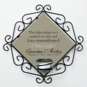 Personalized Celebration of Life Candle Holder