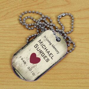 Custom Memorial Dog Tag