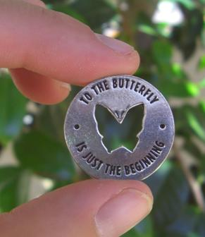 Butterfly Memorial Coin Is About an Inch Across