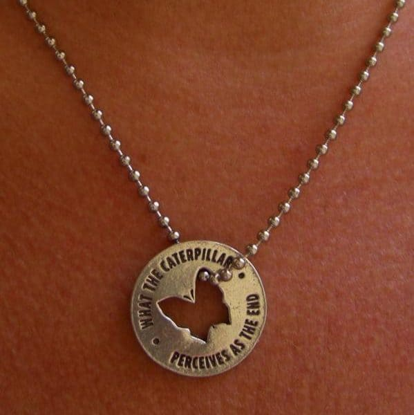 Using Butterfly Memorial Coin as a Necklace