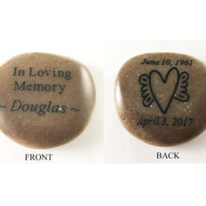Custom memorial stones engraved on front and back