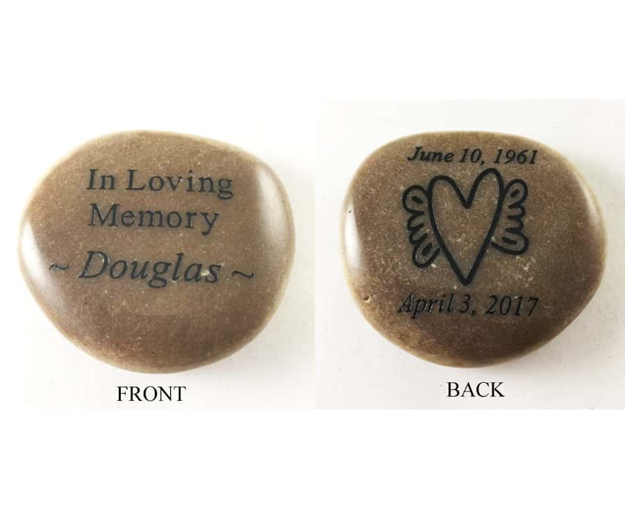 memorial stones that are personalized on both sides memory stones