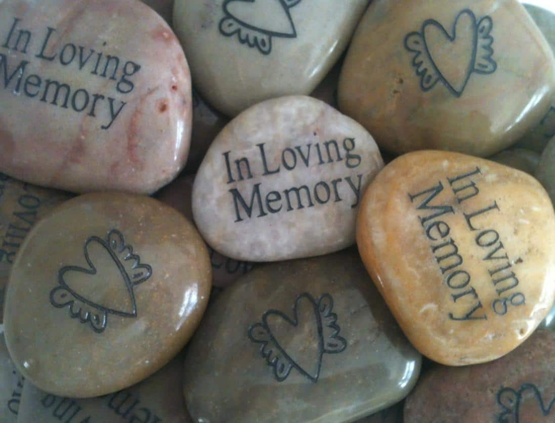 Funeral poems for mom poetry to read for mothers funeral or memorial memory stones for funeral with heart and angel wings izmirmasajfo