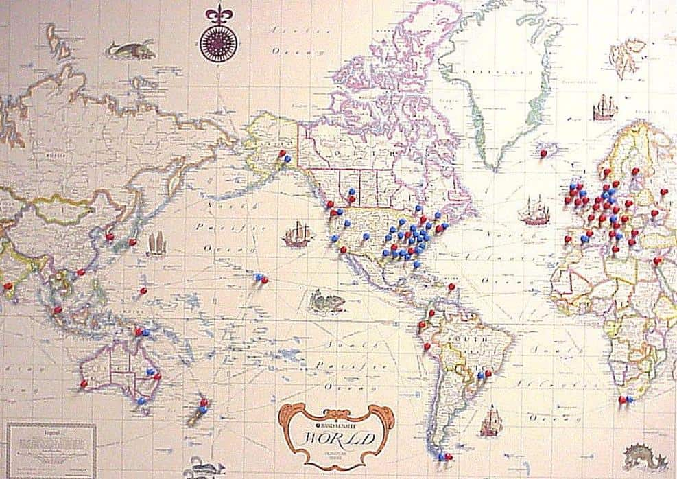 Planning a celebration of life ideas from funeral to unique life travel map memory board gumiabroncs Image collections