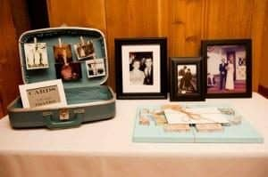 Memorial Service Planning - use a Suitcase Memory Table