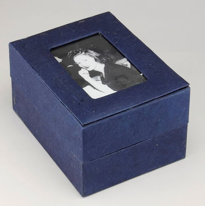 Dark Blue Photo Urn
