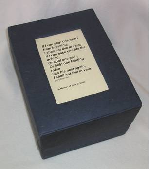 Dark Blue Urn with Poem
