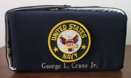 Military Urn with Embroidery