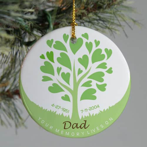 Personalized Ceramic Tree Memorial Christmas Ornament - Personalized Ceramic Tree Memorial Christmas Tree Ornament