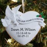 White Resin Personalized Ornament